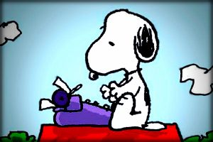 Snoopy írógépel rajz